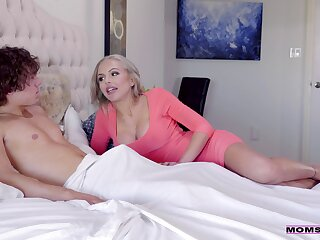 Moaning progenitrix gets laid with the daughter and her boyfriend